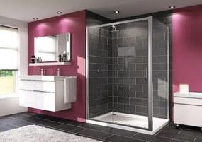 Sprchové dvere Huppe Next posuvné 100 cm, sklo číre, chróm profil 140401.069.322