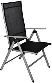 Záhradná skladacia polohovateľná stolička - 66 x 54 x 103 cm