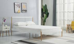 Kovová posteľ Lotti, biela, 120x200cm