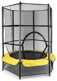 Rocketkid 3, žltá, 140 cm trampolína, bezpečnostná sieť, bungee pružiny