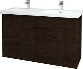Dřevojas - Koupelnová skříň BIG INN SZZ4 125 - D08 Wenge / Úchytka T02 / D08 Wenge (27905B)