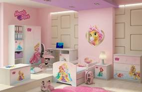 DO Moderné detské izby pre dievčatá Palace pets - 160x80 3ks