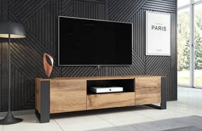 CAMA MEBLE Televizný stolík WOOD WOTAN/ANTRACIT