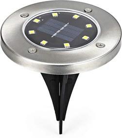 Bezdoteku LEDsolar 8Z vonkajšie svetlo k zapichnutie do zeme 1 ks, 8 LED, bezdrôtové, IPRO, 1W, studená farba