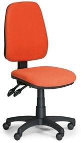 EUROSEAT Kancelárska stolička ALEX bez podpierok rúk, oranžová