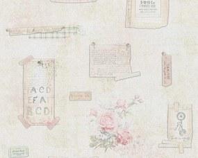 A.S. Création - Papierová tapeta na stenu - Béžová, Šedá, Zelená , Ružová 95668-1 Djooz - 0,53 m x 1