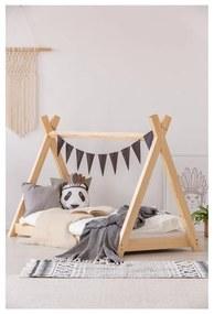 Domčeková posteľ z borovicového dreva Adeko Mila TP, 90 × 200 cm