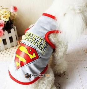 PETOP Tričká pre psov Superman sivá L