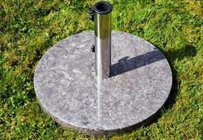 Stojan na slnečník z mramoru a ušľachtilej ocele, okrúhly, 25 kg