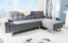 Rohová rozkladacia sedačka Sweden II, sivá