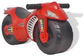 vidaXL Detský motocykel, plastový, červený