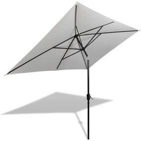 Pieskovo biely obdĺžnikový slnečník 200 x 300 cm