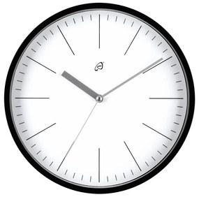 AURIOL® Nástenné hodiny so skleneným krytom (čierna / biela), čierna / biela (100301154)