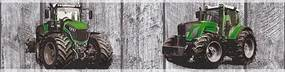 Detské vliesové bordúry Little Stars 35843-1, rozmer 5 m x 0,13 m m, traktory na drevených doskách, A.S.Création
