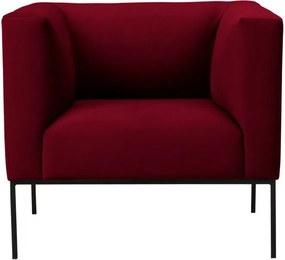 Červené zamatové kreslo Windsor & Co Sofas Neptune