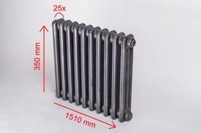 HOTHOT 25 článkov, Patina, 350x1510 mm, 1750 W, Liatinový radiátor HH0240