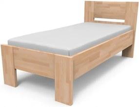 Kvalitná posteľ z masívu NIKOLETA s plným čelom Veľkosť: 210 x 90 cm, Materiál: BUK morenie čerešňa