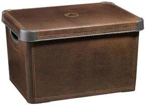 CURVER LEATHER L box úložný dekoratívny 39,5 x 25 x 29,5 cm hnedá 04711-D12