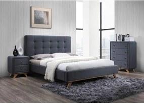 Najlacnejsinabytok MELISSA čalúnená posteľ 160x200 cm, šedá »