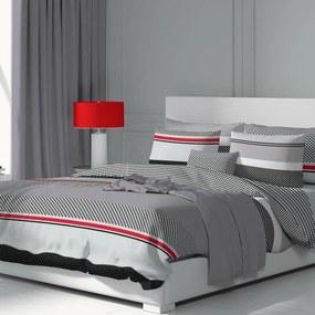 Kvalitex Bavlnené obliečky Grid sivá, 200 x 200 cm, 2 ks 70 x 90 cm