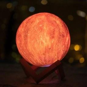 Stolná lampa 3D mesiac 15cm - 16 farieb