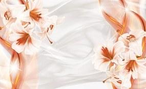 Fototapeta - Oranžová abstrakcia (152,5x104 cm), 10 ďalších rozmerov