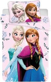 Obliečky do postieľky Ľadové kráľovstvo - Frozen 03 100x135 40x60 cm 100% Bavlna Jerry Fabrics