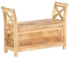 vidaXL Lavička do haly 103x33x72 cm masívne mangovníkové drevo