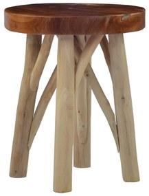 vidaXL Stolička hnedá teakové drevo