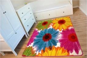 Kusový koberec Gerbery žltý, Velikosti 160x220cm