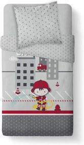 TODAY KIDS povlečení 100% bavlna Pimpom - hasič 140x200/63x63 cm