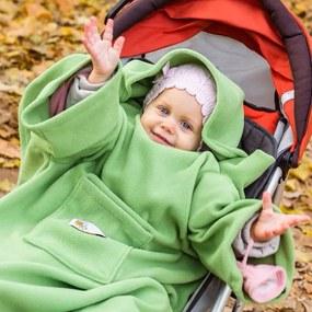 Deka s rukávmi pre deti Baby Wrapi Active - zelená