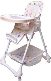 Detská jedálenská stolička / ležadlo Puntíky