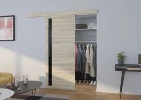 Posuvné dvere na stenu Dust - dub sonoma - 03 - 106 cm