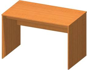 KONDELA Tempo Asistent New 21 PI písací stôl čerešňa