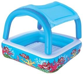 Bestway Modrý detský bazén s prístreškom, 147x147x122 cm, 52192