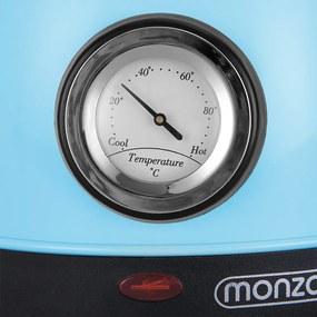 Jurhan Rýchlovarná kanvica na vodu z ušľachtilej ocele s retro-dizajnom 1,8 litra – modrá farba JR05
