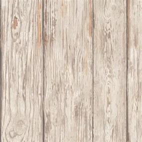 Vliesové tapety na stenu IMPOL TRADE Attitude 56204, rozměr 10,05 m x 0,70 m, drevené dosky hnedé, Marburg