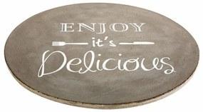 DekorStyle Deska na servírování Enjoy Delicious šedá