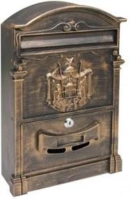 Poštová schránka RICHTER BK301 (ZLATÁ, ČIERNOČERVENA, ČIERNA) - Zlatá prášková