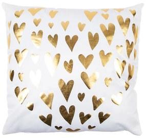 JAHU Vankúšik Gold De Lux Srdce biela, 43 x 43 cm