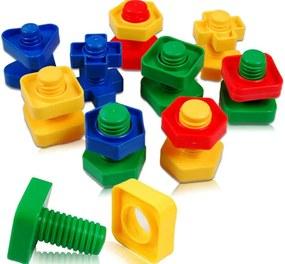 KIK Konštrukčná detská stavebnica skrutky 30 dielov, KX7423