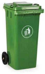 Plastová popolnica 120 litrov, zelená