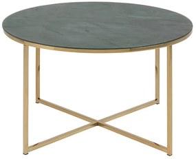 Alisma konferenčný stolík R80 zelená / zlatá