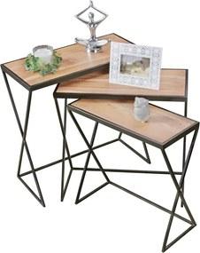 Odkladací stolík Ture (súprava 3 ks), 65 cm, agát