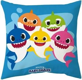 Javoli Dekoračné vankúš Baby Shark 40 x 40 cm IV