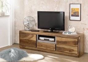 Bighome - ROUND TV stolík 170x50 cm, hnedá, palisander