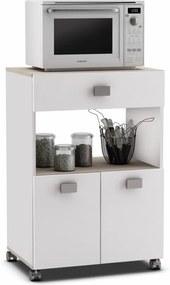 Biela kuchynská skrinka na kolieskach Demeyere Romarin