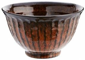 MADAM STOLTZ Oranžová kameninová miska Stoneware