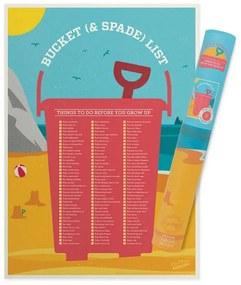 LUCKIES Stierací plagát Bucket & Spade list